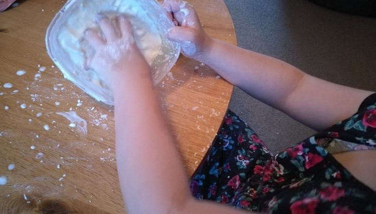 Messy play with some gloopy stuff