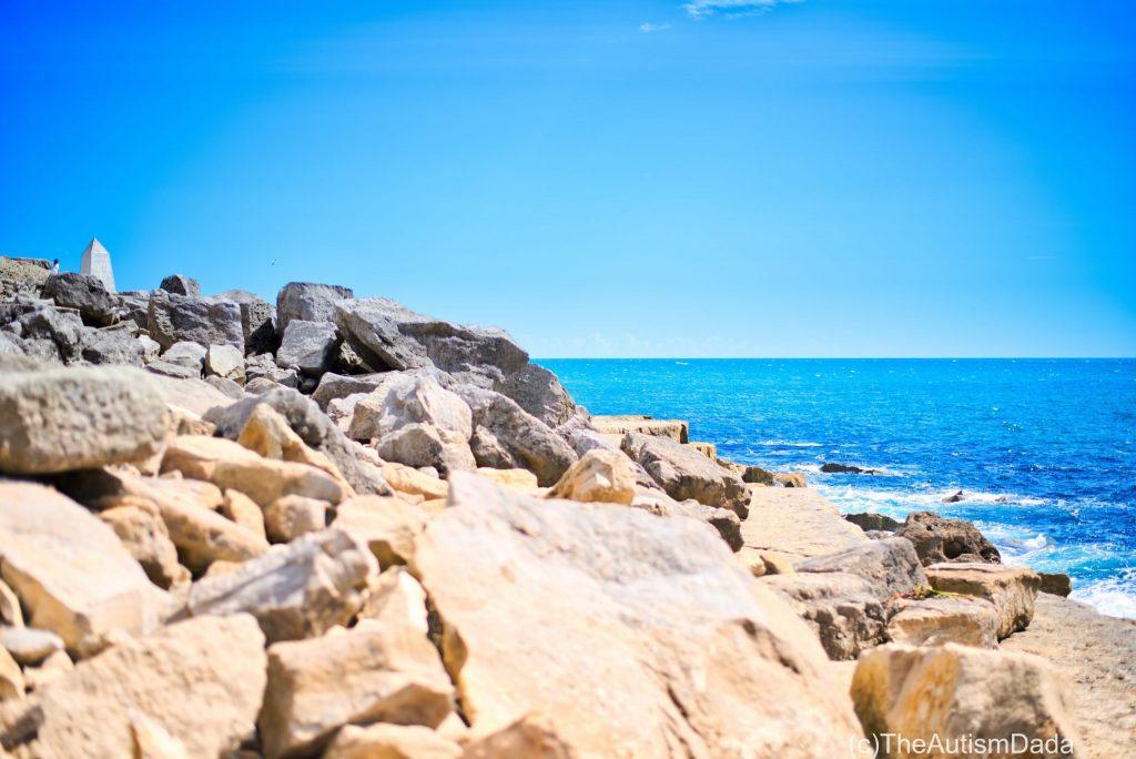 Natural drama in coastline