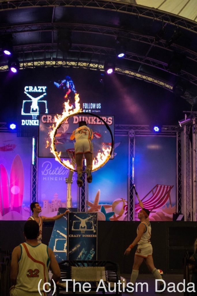 Butlins 2017 - Jumping through fire