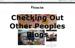 Checking out other peoples blogs