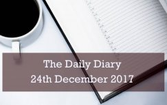 Daily Diary – 24th December 2017