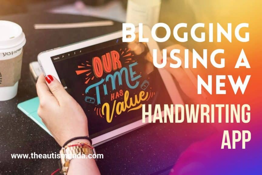 Blogging Using A New Handwriting App